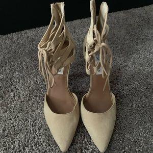 Nude closed toe Steve Madden heels